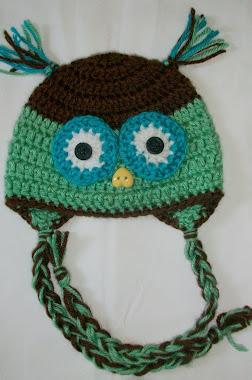 Baby Owl Newborn Hat