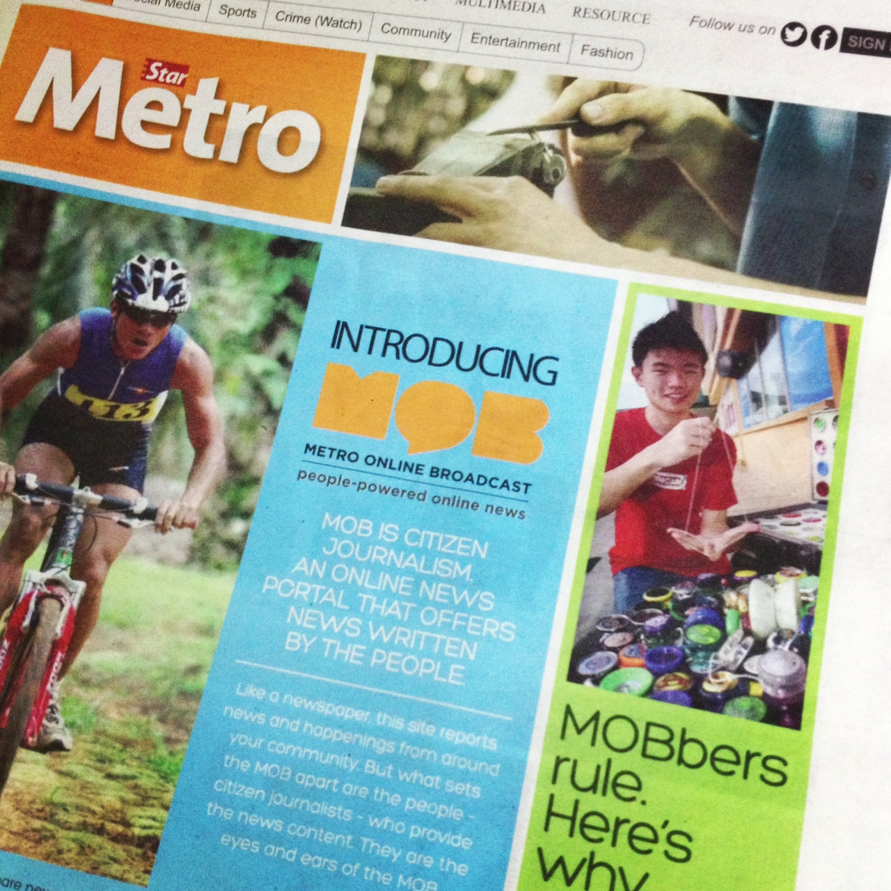 FEATURED IN STAR METRO MOB 2013 MAY