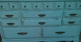 Furniture By Mk Designs Shabby Chic Turquoise Dresser