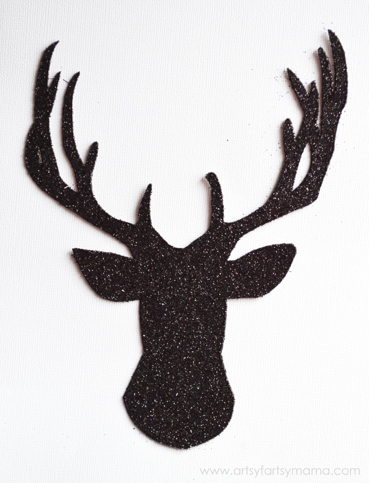 DIY Glitter Reindeer Art at artsyfartsymama.com #royaldesignstudio