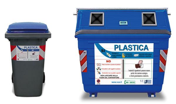 Plastica - Contenitori rifiuti differenziati per casa ...