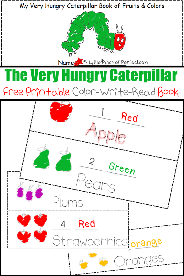 This is an image of Handy The Very Hungry Caterpillar Printable