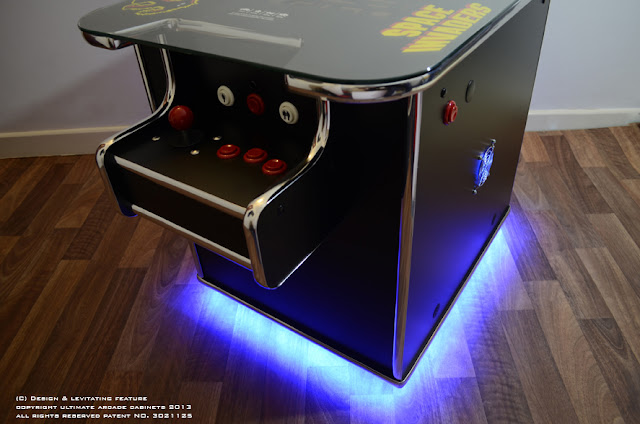 levitating arcade machine