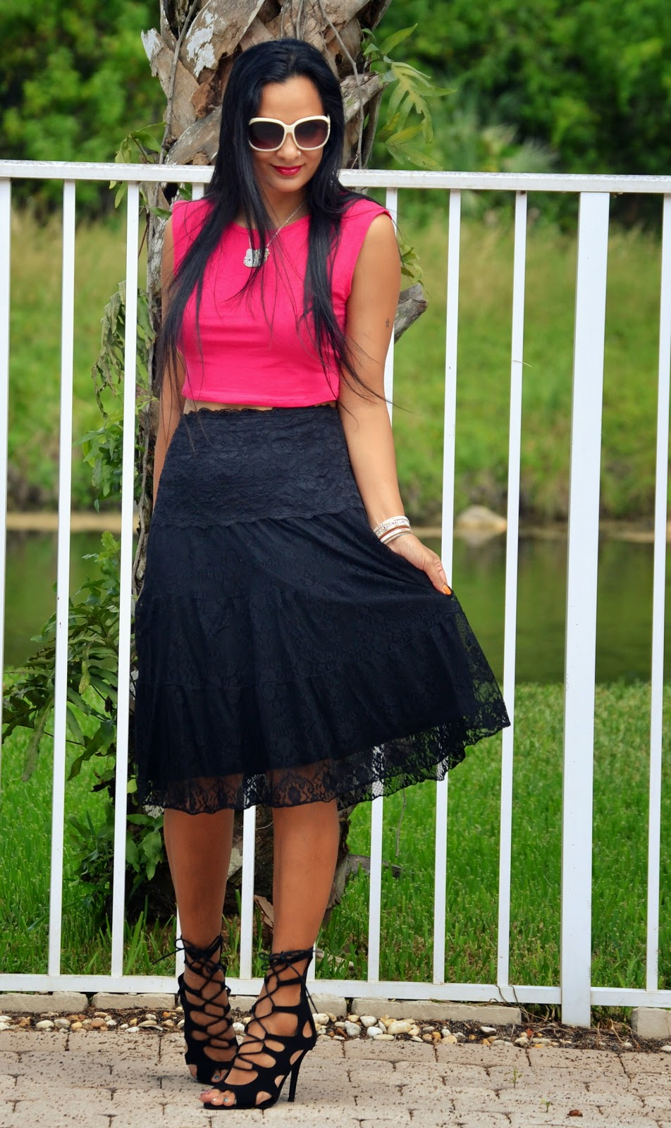 Lace Skirt And Crop Top www.sandysandhu.o