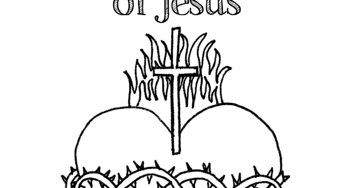 heart and jesus coloring pages - photo#4