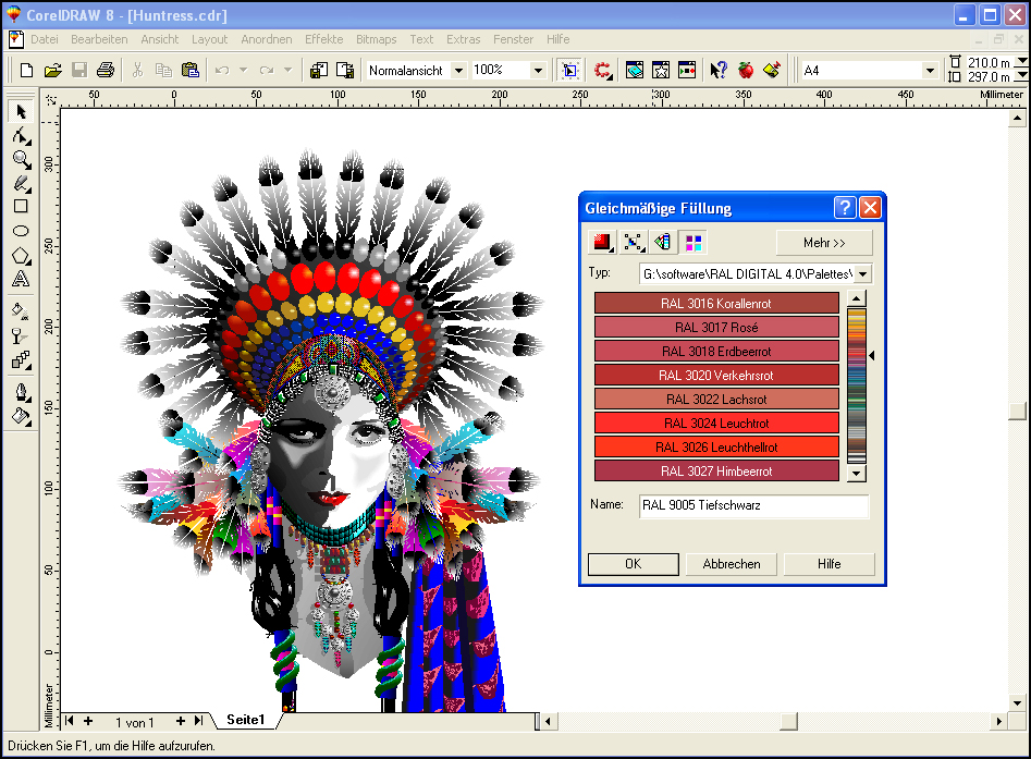 how to change color of image in corel draw x5