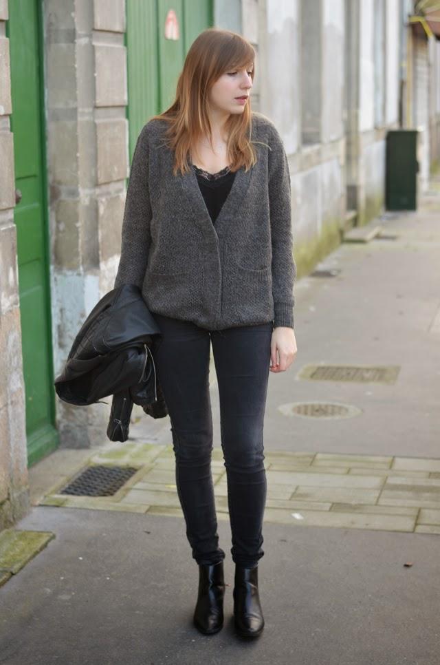 tenue noir gris