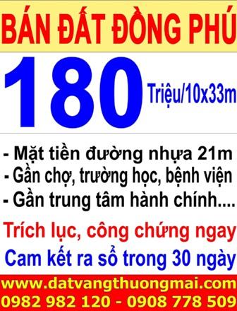 Bán đất nền Đồng Phú Bình Phước giá rẻ