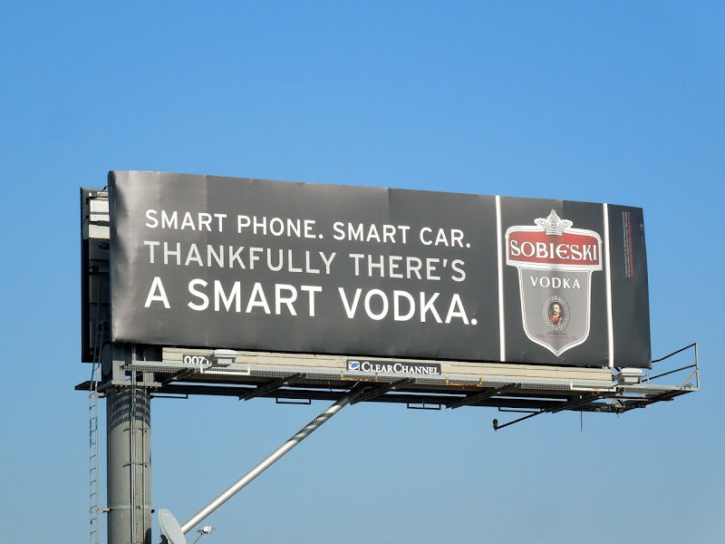 Sobieski smart vodka billboard
