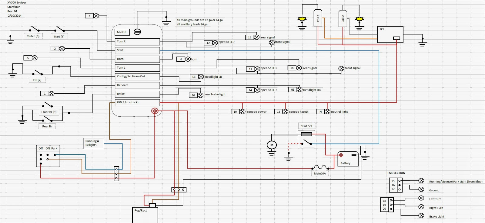 Wiring+Schematic+R04 viragotechforum com \u2022 view topic yet another cafe project part 1 1982 yamaha virago 920 wiring diagram at panicattacktreatment.co
