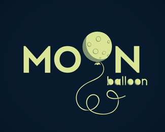 Moon Balloon Logo Design