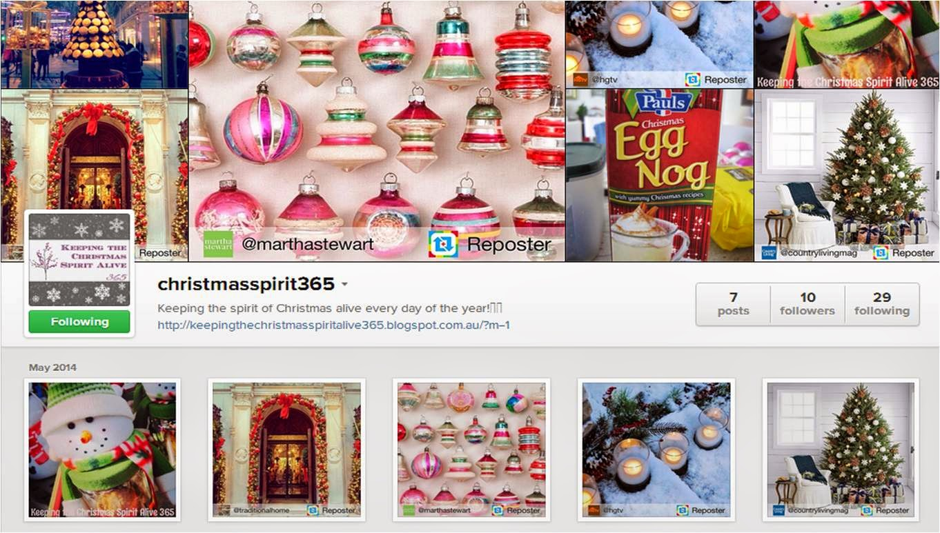 Follow Christmas Spirit 365 on Instagram!
