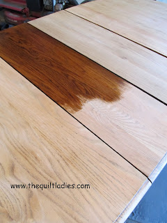 Sanding and Staining a Dining Room a tutorial