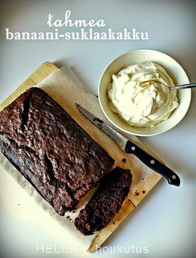 Hyvä kakku, parempi mieli: Banaani-suklaakakku