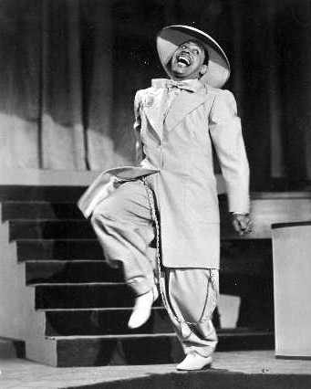 American Jazz singer Cab Calloway sporting a Zoot suit and the inspiration for the French Zazous
