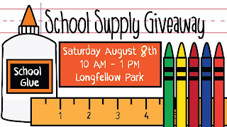 The annual school supply giveaway is this saturday at Longfellow Park. Berean Christian Church and Servants for Christ are the hosts every year.