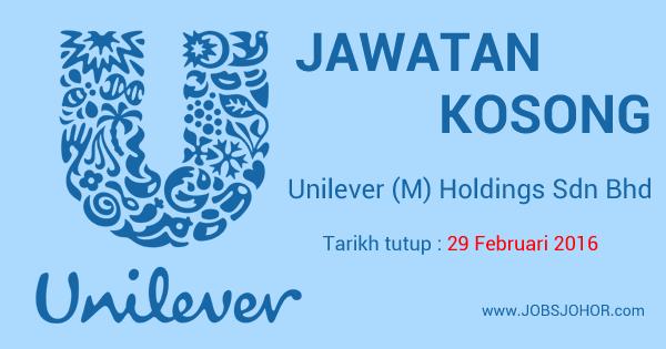 Jawatan Kosong Unilever (M) Holdings Sdn Bhd 2016 Johor Bahru