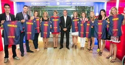 FC Barcelona Real Madrid Supercopa 2012 homenaje medallistas olímpicos catalanes