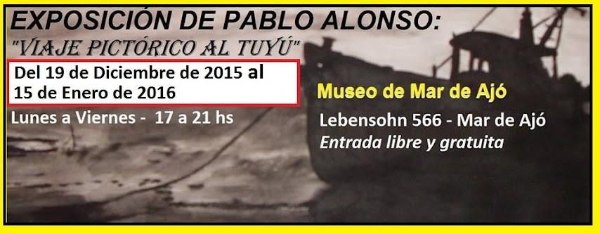 Exposición de Pablo Alonso en el Museo de Mar de Ajó