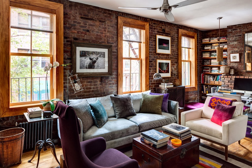 cool chic style attitude interiors rustic apartment new york