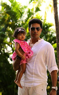 Abhishek Bachchan and his Daughter