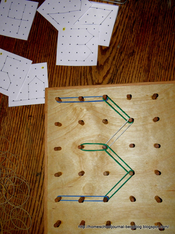 On a geoboard or dot paper, construct each of the following?