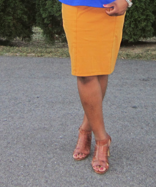 Brown sandals with mustard