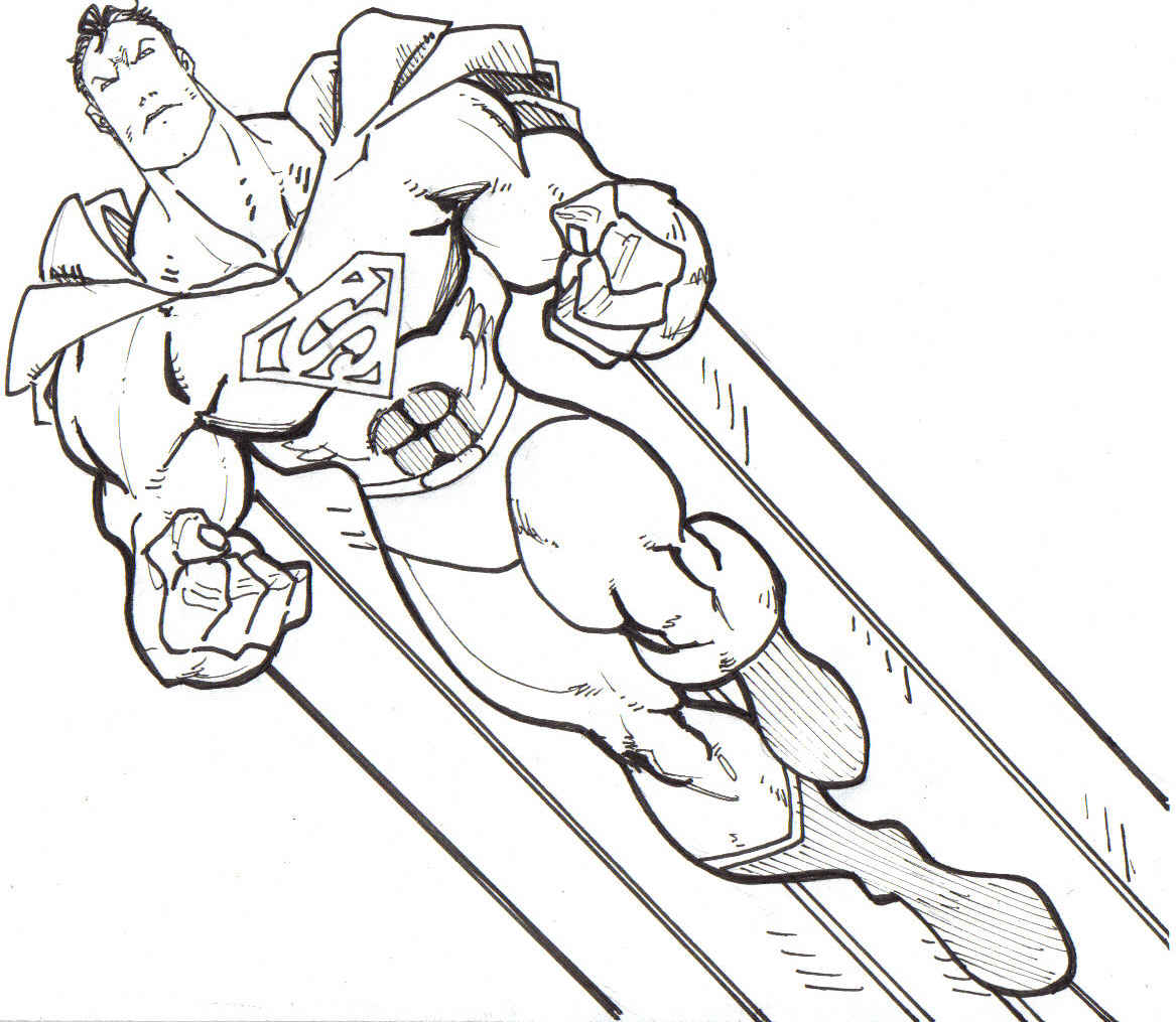 Super hero super hero coloring pages for Super man coloring page