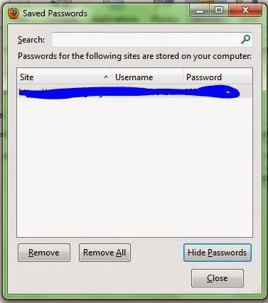 Cara Melihat password yang tersimpan di Mozilla FireFox dan cara menghapusnya