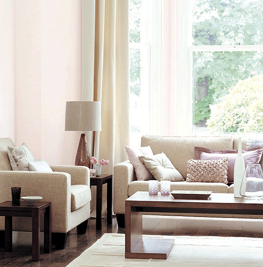 Present Value Of Pearls Light Pink Living Room
