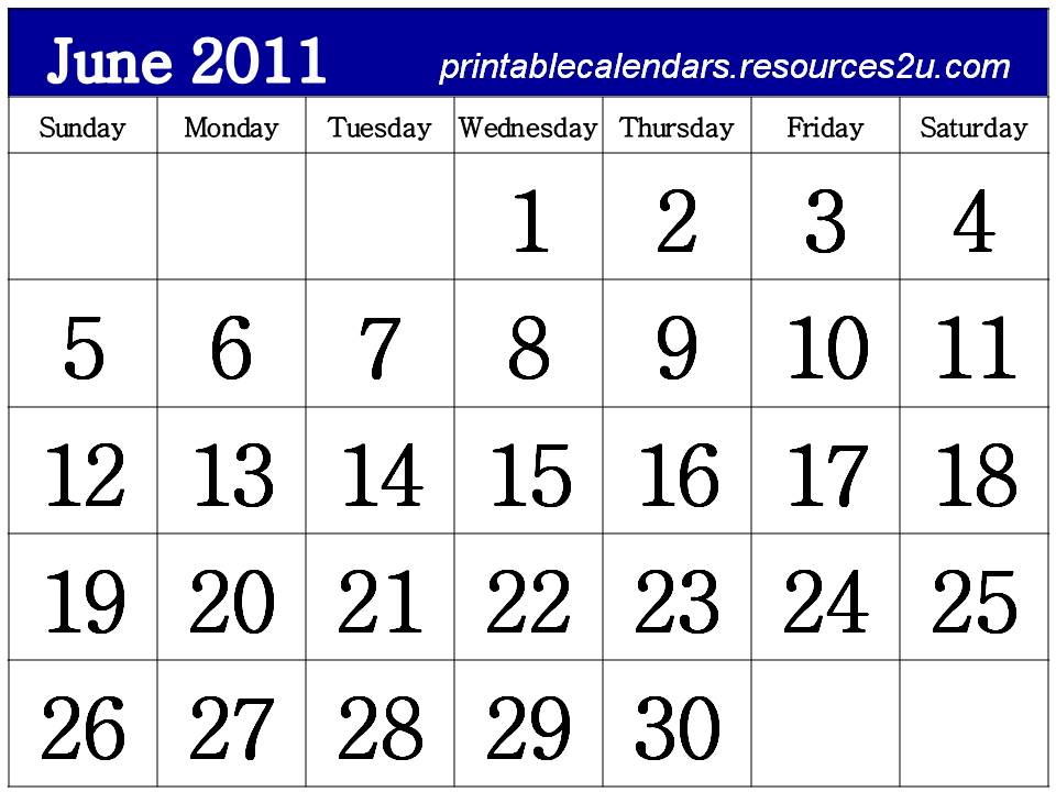 free calendar 2011 template. Free Calendar 2011 June to