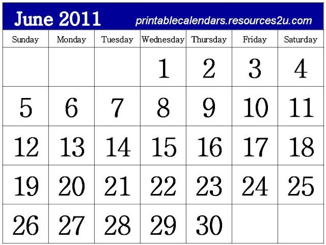 june 2011 calendar print. calendar 2011 printable june.