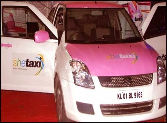 Kerala Launched SHE TAXI - Service for Women travellers operated by women