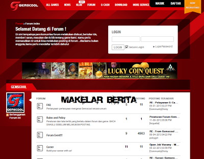 Daftar, Voucher, Login, Forum Gemscool Online Indonesia