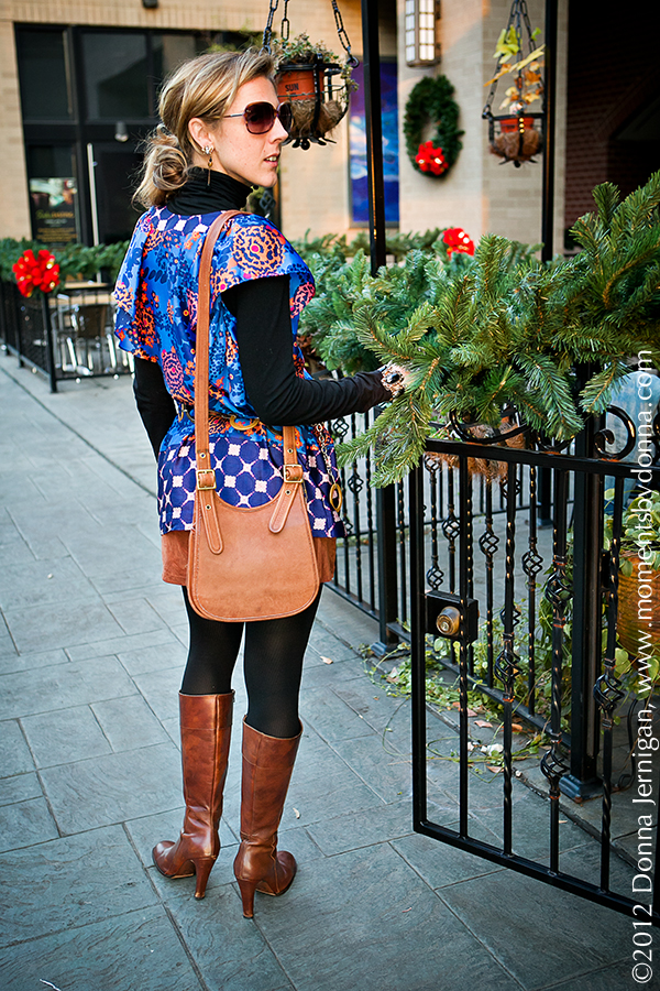 Anthropologie Shirt, Cabi Turtleneck, Piperlime Suede Shorts, Coach Bag, J. Crew Boots, Target Belt, Blinde Sunglasses, Jewelmint Bee Earrings, Melinda Maria Grecian Ring, Tiffany Interlocking Circles Ring, Diamonds Direct, Arooji's Wine Room, the Queen City Style, Charlotte, NC