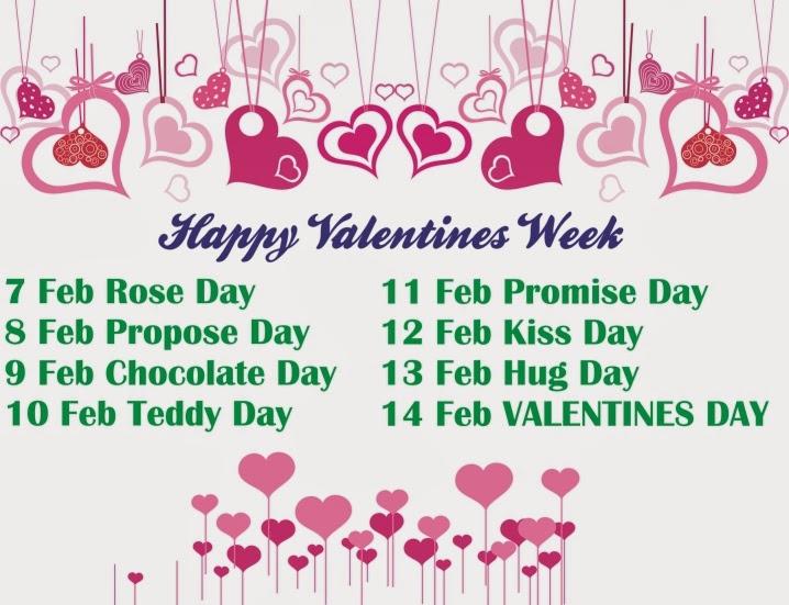 Valentines Week List 2014 Days
