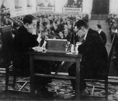 Encuento de ajedrez Flohr - Botvinnik (Mosc, 1934)