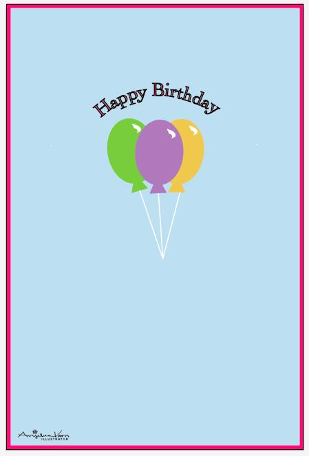 Birthday Card Templates Idea Slim Image – Birthday Card Template