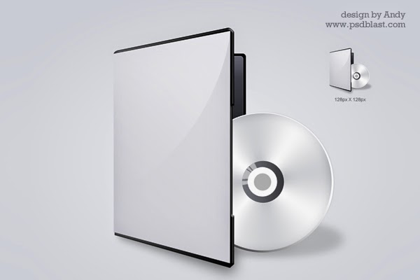 DVD CD Cover PSD Icon