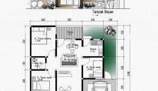 Denah Rumah Minimalis Sederhana Type 45