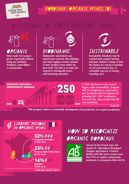 Bordeaux Organic Wines Infographic