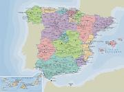 Estas son las 10 provincias españolas más extensas: (mapa politico espana)