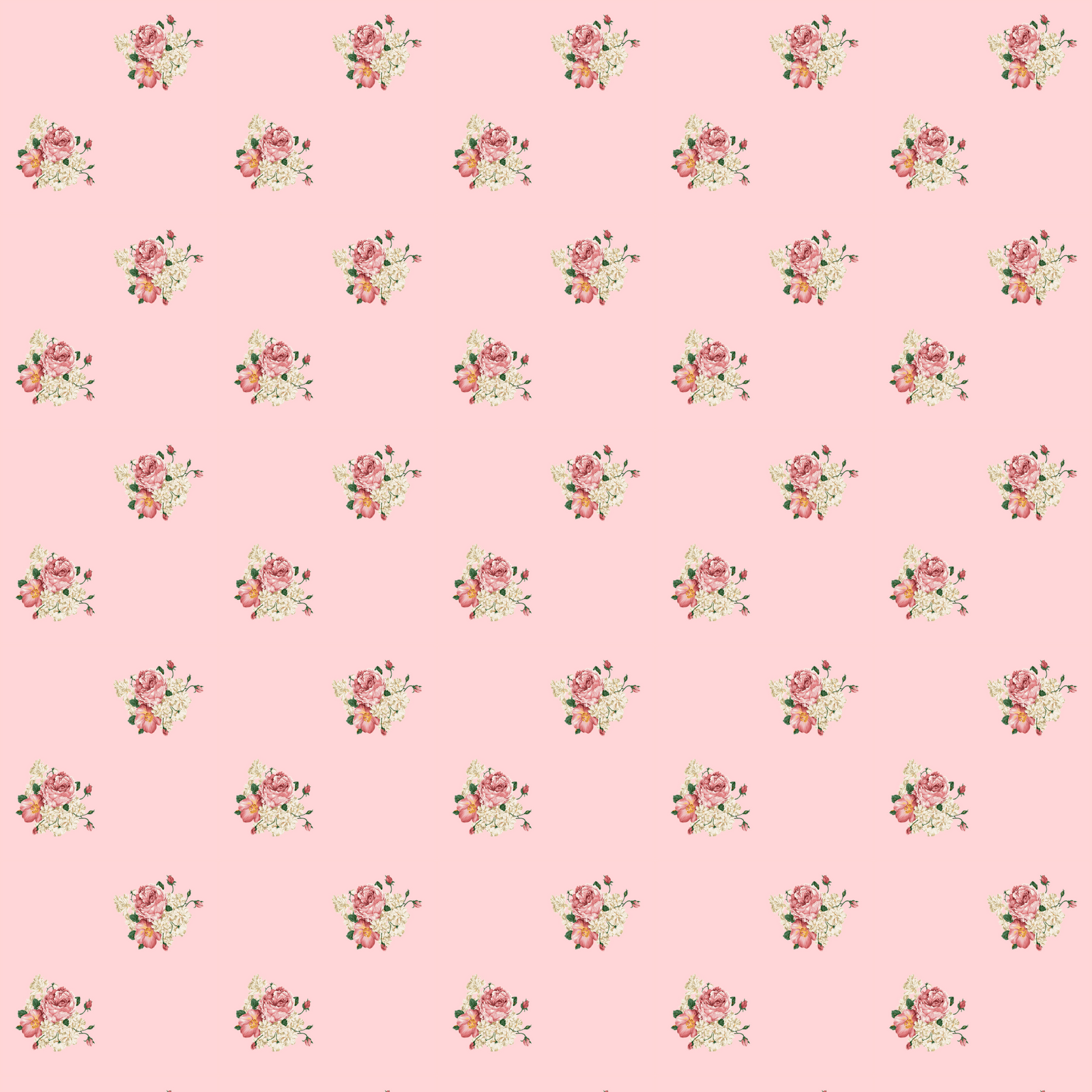 wrapping paper – digital and printable seamless vintage flower paper ...