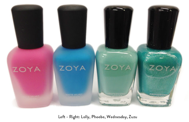 Zoya Lolly, Phoebe, Wednesday, Zuzu