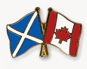 Climbing My Family Tree: Scottish & Canadian flags pin