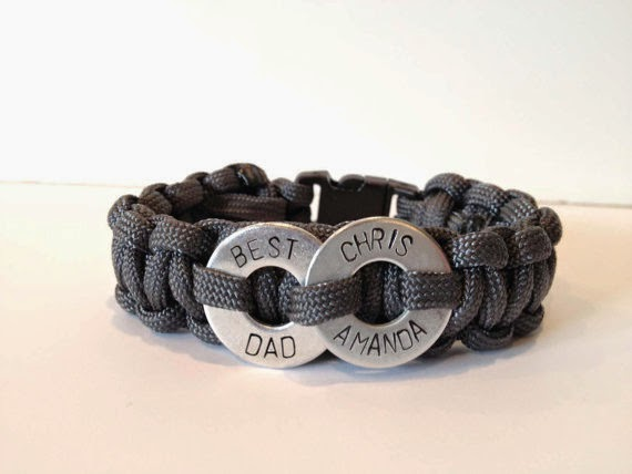 washer and paracord bracelet