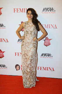 Taapsee Pannu Pictures in Long Dress at The Femina Beauty Awards 201544