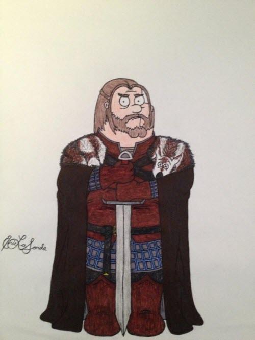 Game Of Thrones estilo Family Guy