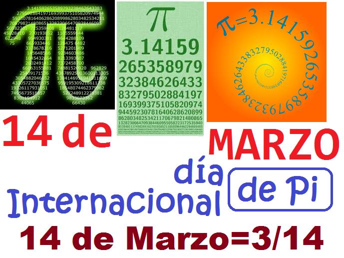 Recursos Matemáticos: 3/14: Catorce de Marzo : Día ...