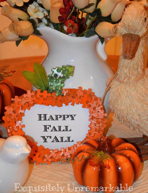 Fall puzzle piece pumpkin       Exquisitely Unremarkable